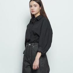 W212 basic over shirt black