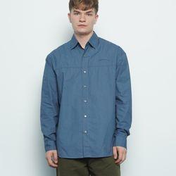 M456 over washing cut shirt darkblue