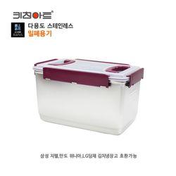 키친아트 금상첨화 스텐밀폐용기 13L 다용도김치통 보관용기