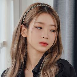 금사 일자 머리띠 헤어밴드 (21HB017)