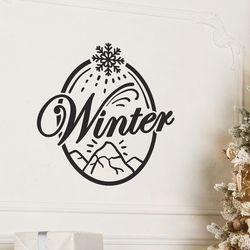 winter 눈꽃내리는 설산 겨울 인테리어 스티커 small