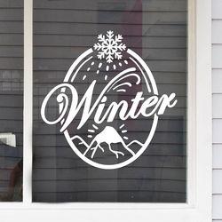 winter 눈꽃내리는 설산 겨울 인테리어 스티커 medium