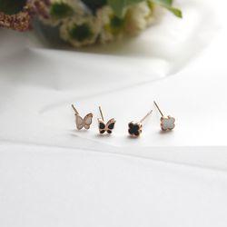 제이로렌 11M01528 데일리 써지컬스틸 나비 귀걸이