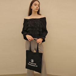 로고 블랙 에코백_Logo Black Eco bag
