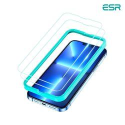 ESR 아이폰13 Pro Max 가이드 풀커버 강화유리 2팩