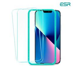 ESR 아이폰13 mini 가이드 풀커버 강화유리 2팩
