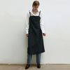 STRAP SLIP STITCH DRESS [NAVY]