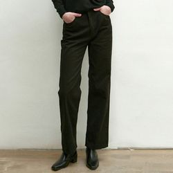 STRAIGHT COTTON PANTS [BLACK]