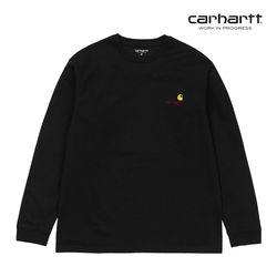 칼하트WIP L/S American Script T-Shirt Black