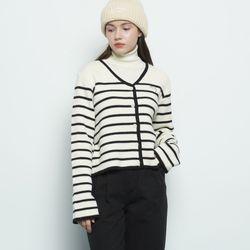 W32 kein stripe cardigan beige