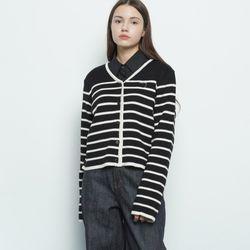 W32 kein stripe cardigan black