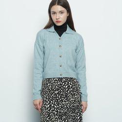 W116 burkin collar cardigan mint