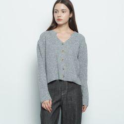 W116 nii crop cardigan grey