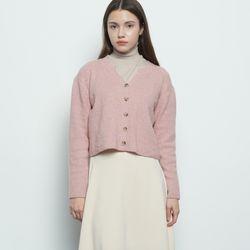 W116 nii crop cardigan pink