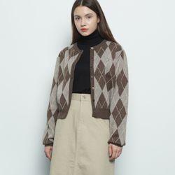 W412 wool argyle brown