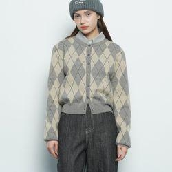 W412 wool argyle grey