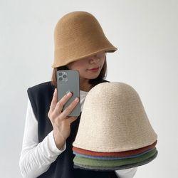 [1 1] 여성 울 니트 벙거지 버킷햇 모자