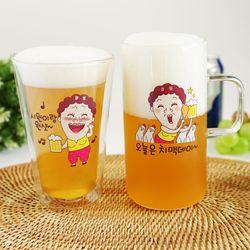 카카오톡 이모티콘 나애미 여사 각인 맥주잔 예쁜 맥주잔
