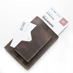 천연 가죽 여권 커버 (카드포켓 horizontal - 버팔로)