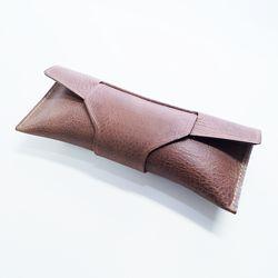 천연 가죽 펜 파우치 (스트랩 커버 - 카우)