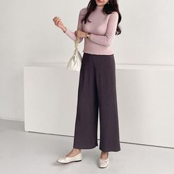 Pleats Rose One Wide Pants - 9부