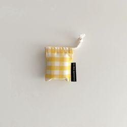 옐로우 체크 에어팟 케이스2(Yellow check airpods case)