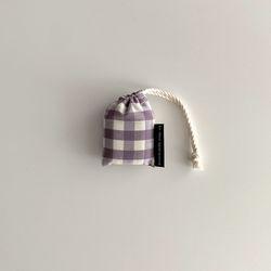 보라 체크 에어팟 케이스(Purple check airpods case)