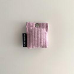 패딩 보라 핑크 에어팟 케이스