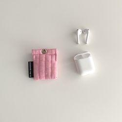 패딩 러블리 핑크 에어팟 케이스