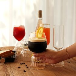 홈캉스 홈카페 내열유리 구름 와인잔 (4TYPE)