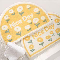 구디푸디 플라워 반달 발매트 꽃무늬 욕실 매트