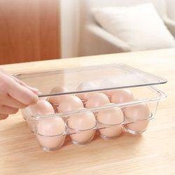 구디푸디 투명 에그 트레이 계란 보관함 12구