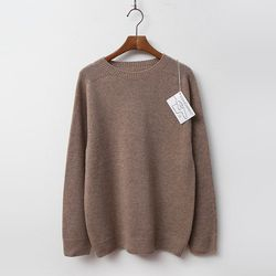 Whole Cashmere Wool N Round Sweater