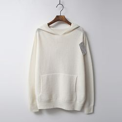 Whole Cashmere Wool Hooded Sweater