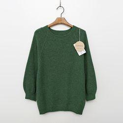 Whole Alpaca Wool Balloon Sweater - 9부소매