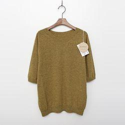 Whole Alpaca Wool Sweater - 반팔