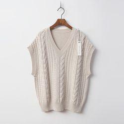 N Merino Wool Twist Vest