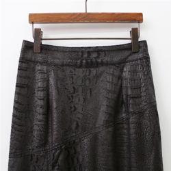 여자 가을 고급스럽고 편한 데일리 패턴 롱스커트