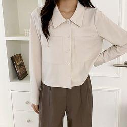 여자 가을 기본 면접룩 깔끔한 스판 미니멀 셔츠