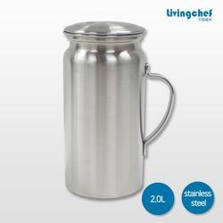리빙쉐프 올 스텐물병 2.0L 냉장고물병