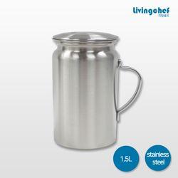 리빙쉐프 올 스텐물병 1.5L 냉장고물병
