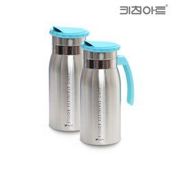 키친아트 주노 스텐물병 2종세트B(1.3LX2개) 냉장고물병