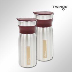 트윙고 리비 스텐레스304 냉장고물병 (1.2LX2개)(레드)