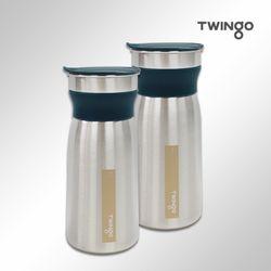 트윙고 리비 스텐레스304 냉장고물병 (1.2LX개)(그린)