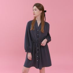 HENRY NECK STRING ONEPIECE(CHARCOAL)