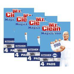Mr Clean 매직이레이저 부엌 주방 청소 스펀지 4팩