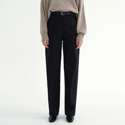 WIDE LEG COTTON PANTS BLACK