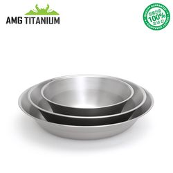 에이엠지티타늄 티탄 접시3ps(케이스포함) 캠핑용품 AMGTITANIUM