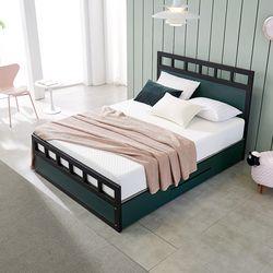 [수도권무배] 워너비 스틸 높은서랍 침대 Q 포켓 볼라텍스
