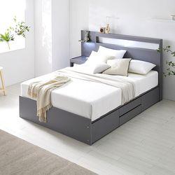 [수도권무배] 워너비 LED 높은서랍 침대 Q 포켓 볼라텍스